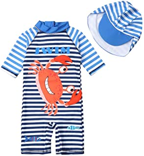 Playshoes Jungen Bade-Set 2 tlg Surfer 461052 blau mit gr/ünen Streifen