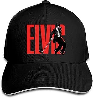 Elvis Aaron Presley Outdoor Walk Cotton Sanpback Cap Hat Adjustable Gray