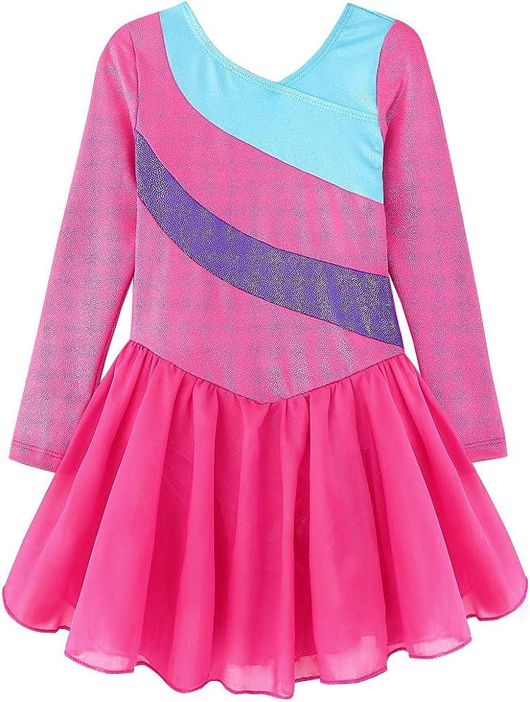 5 ☆ popular Skirted Leotards for Girls Gymnastics R Sparkly Dancewear Ballet In a popularity