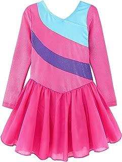 Kidsparadisy Skirted Leotards for Girls Gymnastics Sparkly Ribbons Ballet Tutu Dance Dress
