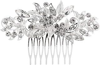 مشط شعر الزفاف من العلامة التجارية KaLaiXing مع رأس رأس رأس للزفاف بلآلئ كريستالية لوصيفات العروس