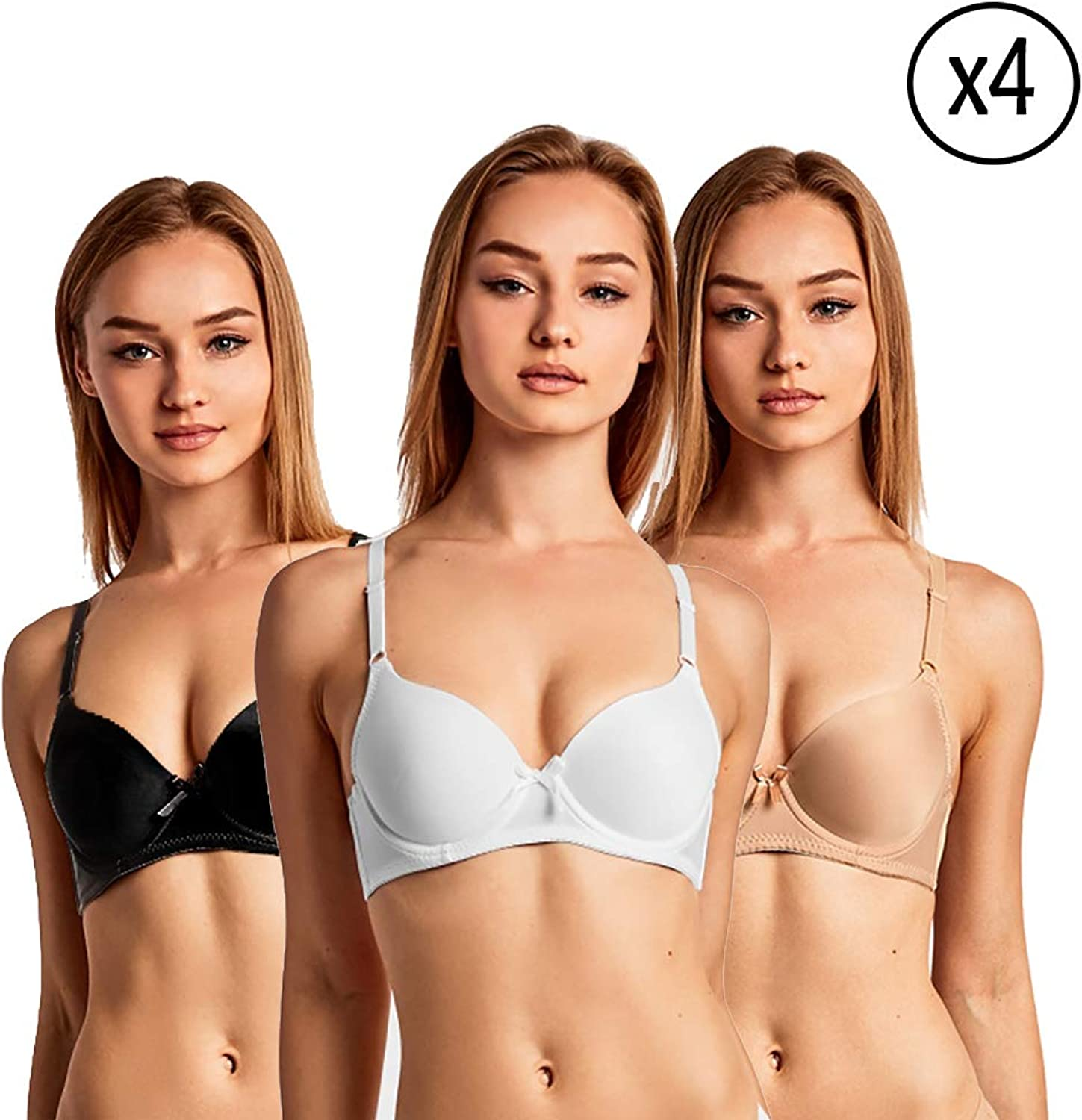 Daily Basic Women Solid colors TShirt Full Cup Bra  12 Pack