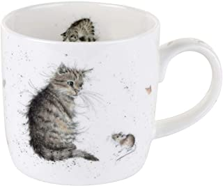 Royal Worcester MMLU5629-XSM Wrendale Cat and Mouse Mug, Multi-Color