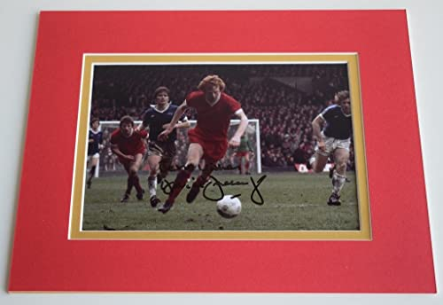 Sportagraphs David Fairclough Signed Autograph 10x8 photo display Liverpool Football & COA perfect Gift