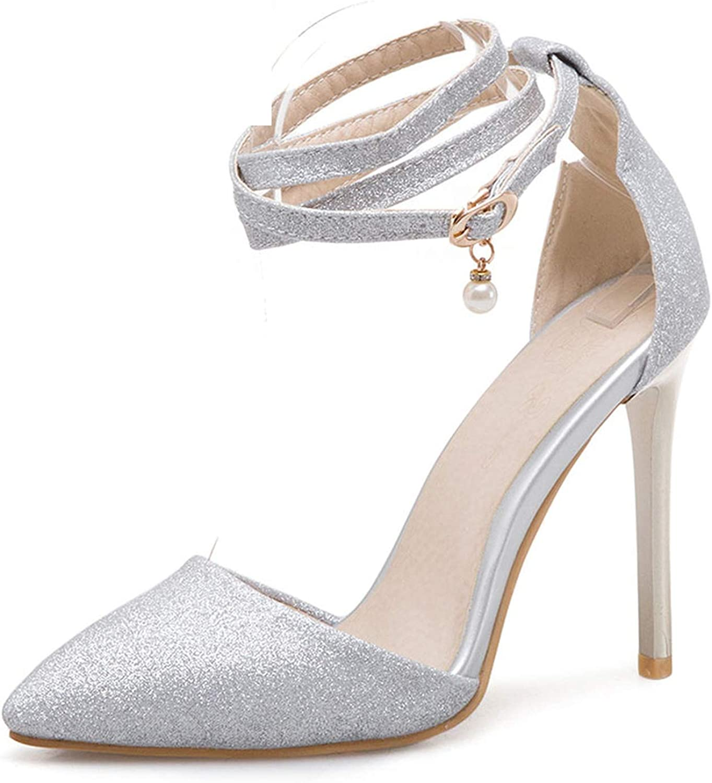 Thin Heels Stilettos High Heel Platform Blingbling Cut Outs Laides Sandals