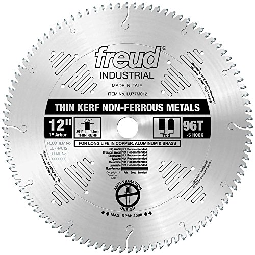 Freud LU77M012 12-Inch 96 Tooth Metal Cutting Blade