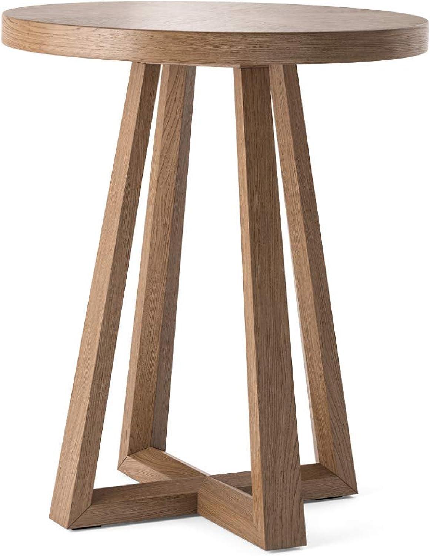 Bpink PARC End Table - Classic Traditional Side Table Brown Oak (STBPAR06DAR)