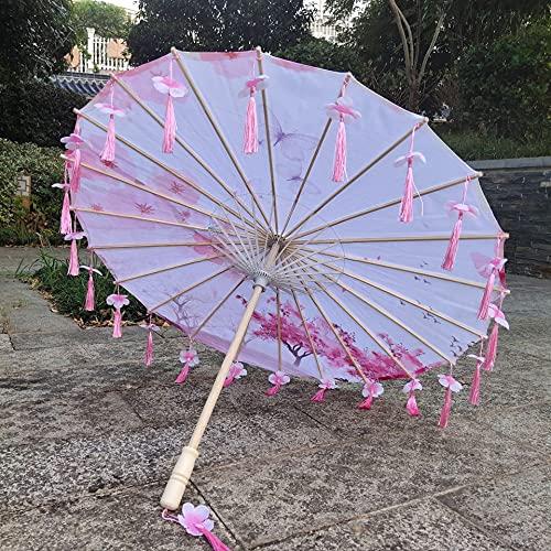古代ハンフタッセル傘ダンスパフォーマンスアンブレラ写真小道具傘クラフト古代点油性紙傘 (Color : 27)