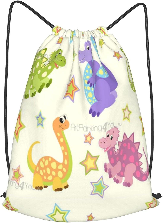 Elegant Art Painting Dinosaur Drawstring Backpack Resistant String New Free Shipping Water