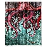 FMSHPON Unique Octopus Abstract Art Waterproof Shower...