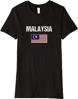 Womens Malaysian Heritage Pride Malaysia Flag Premium T-Shirt