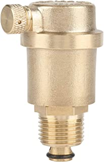 Air Vent Valve, DN15 G1/2 Brass Automatic Air Vent Valve for Solar Water Heater Pressure Relief with Length of 7cm/2.8in