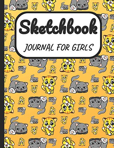 Sketchbook Journal for Girls: A Large Note Book for Girls of All Ages With Blank Paper For Drawing And Sketching: Artist Edition with Girly Cover