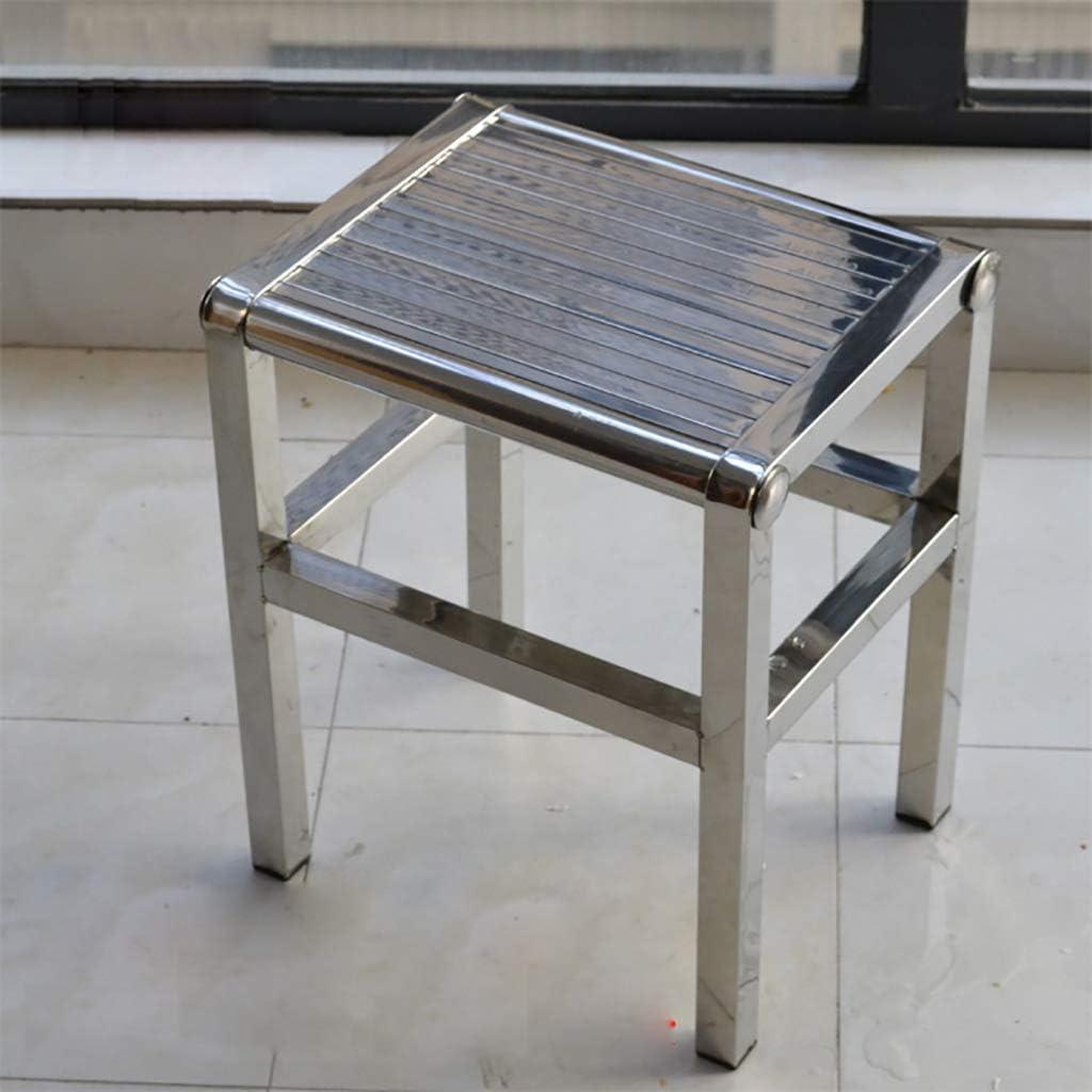 Size : L26*W22.5*H25cm LLysda bathroom stool Bathroom Stools-304 stainless steel bathroom anti-slip stool adult simple//bath stool outdoor leisure square stool shower stool