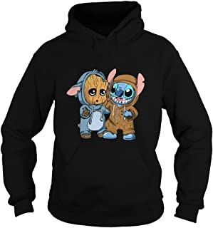 stitch and baby groot hoodie