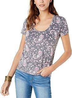 Lucky Brand womens FLORAL BURNOUT TEE T-Shirt