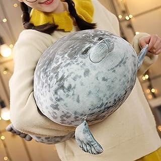 "Cute Blob Seal Pillow, Chubby Seal Plush Hug Pillow Soft Stuffed Animal Toy (Gray,24"" )"