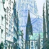 StadtKUNST - das Original: Bild auf Aluminium Lambertikirche Münster Format 37x37