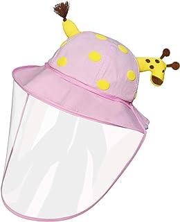 Kids Dustproof Sun Hat Cotton Packable Visor Summer Anti UV Detachable Protective Cover