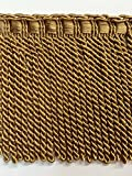 6' Fancy Header, Highiest Quality Bullion Fringe Trim BUF-6/12-17 Antique Gold