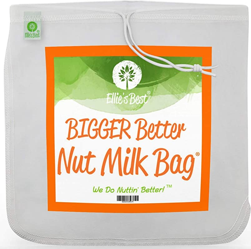 PRO QUALITY NUT MILK BAG 12 X12 COMMERCIAL GRADE REUSABLE ALL PURPOSE FOOD STRAINER Nutmilk Juicing Coffees Ultra Fine Mesh Nylon Cheese Cloth Food Grade BPA Free Free Recipes Videos
