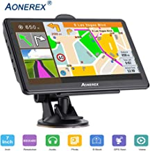 GPS Navigation for Cars,7-inch HD Touch Screen, Built-in 8GB Real Voice Turn Alarm, Satellite Navigation, Free Lifetime map