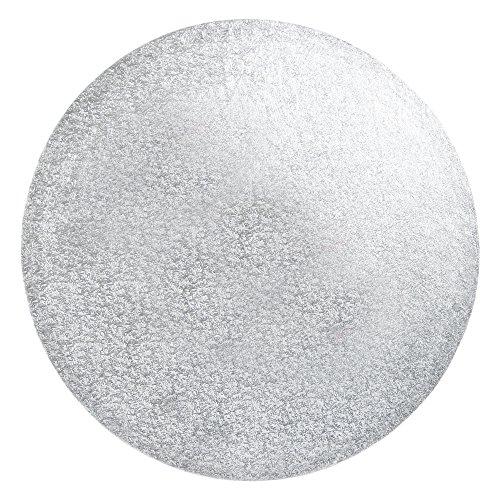 FunCakes Cake Drum-runde, silberfarbene Kuchenplatte Ø 38cm, Papier