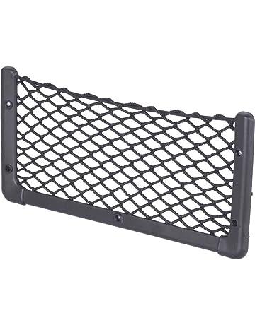 TOPDECO Filet /à Bagages /élastique avec 4 Crochets de Fixation pour Coffre Organiseur Filet Lastique de Rangement de Coffre de Voiture en Maille