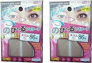 DAISO JAPAN Natural Double Eyelid Nudy Tape Slim   86 pcs   Bandage type (Set of 2)