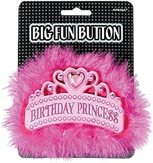 Amscan 210183 Princess Big Fun Button Party Accessories, 4