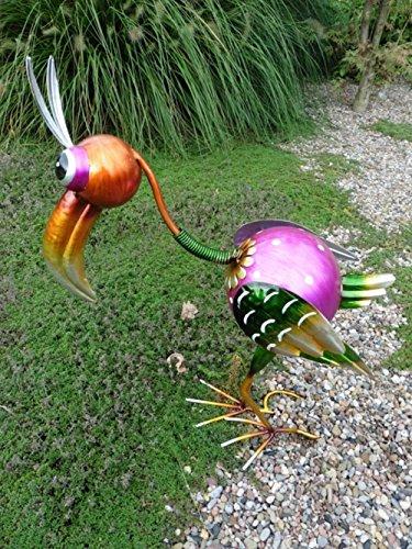Buddel-Bini - Figura decorativa (metal, 50 cm), diseño de pájaro del paraíso