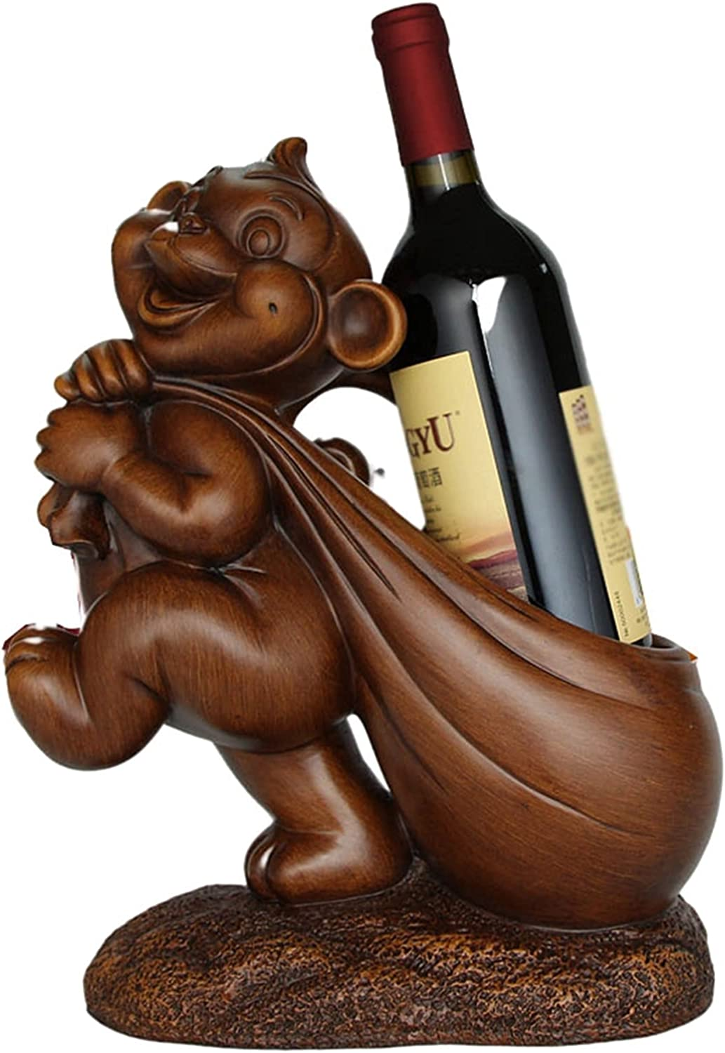 Wine Rack Casual Monkey-Shape Cheap Oakland Mall mail order specialty store Resin Office Living Ornament Room