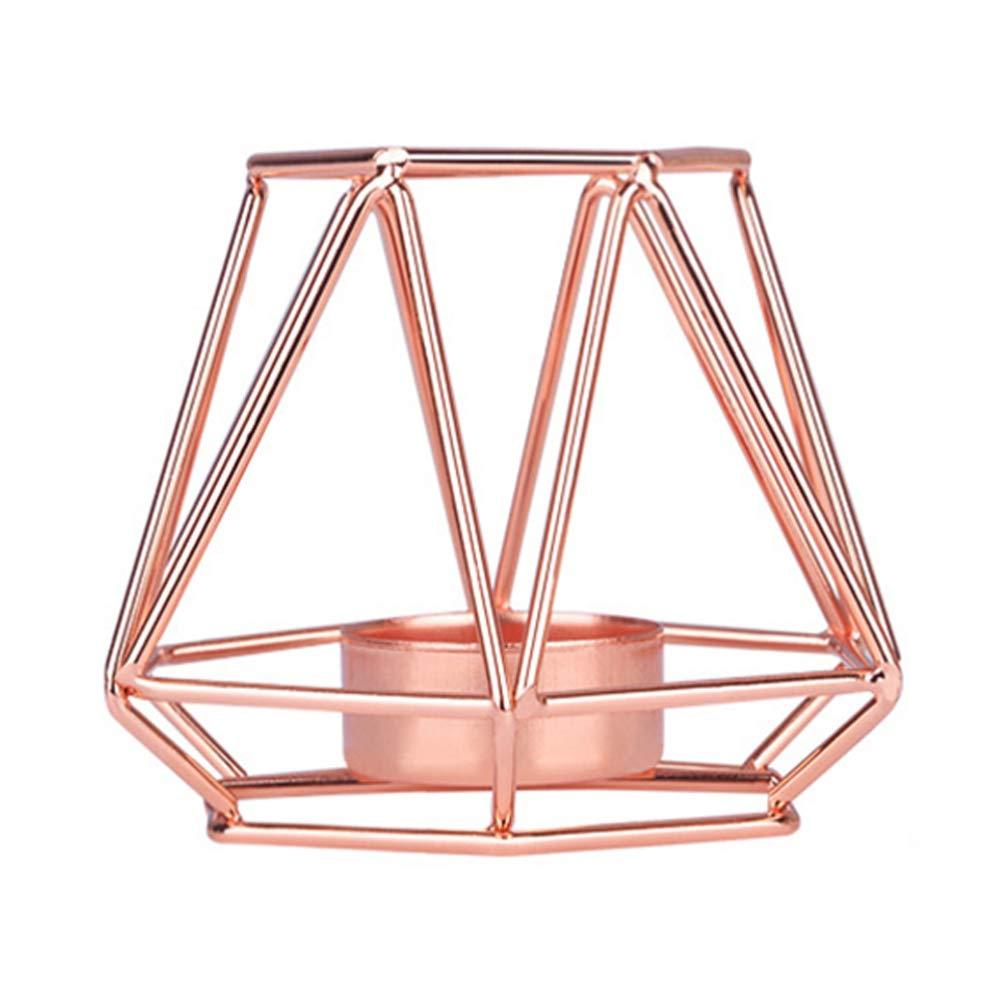 Bumen Style Nordique 3D Chandelier g/éom/étrique en m/étal Porte-Bougie de Mariage d/écoration de la Maison