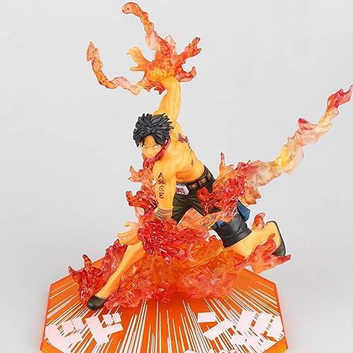 HYBKY Jouet Statue One Piece Jouet Modèle voituretoon Personnage Cadeaux Décoration Feu Poing Ace Collection 15CM Artisanat Statue d'anime