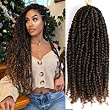 IWISH Passion Twist Hair 18 Inch 6 Packs/Lot Water Wave Crochet for Passion Twists Long Bohemian Hair Braiding Ombre Passion Twist Crochet Hair Braids Synthetic Hair Extensions (T1B/27#)