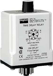 Dayton 1EGB8 Time Delay Relay, 120Vac, 10A, Dpdt, 9 Sec.