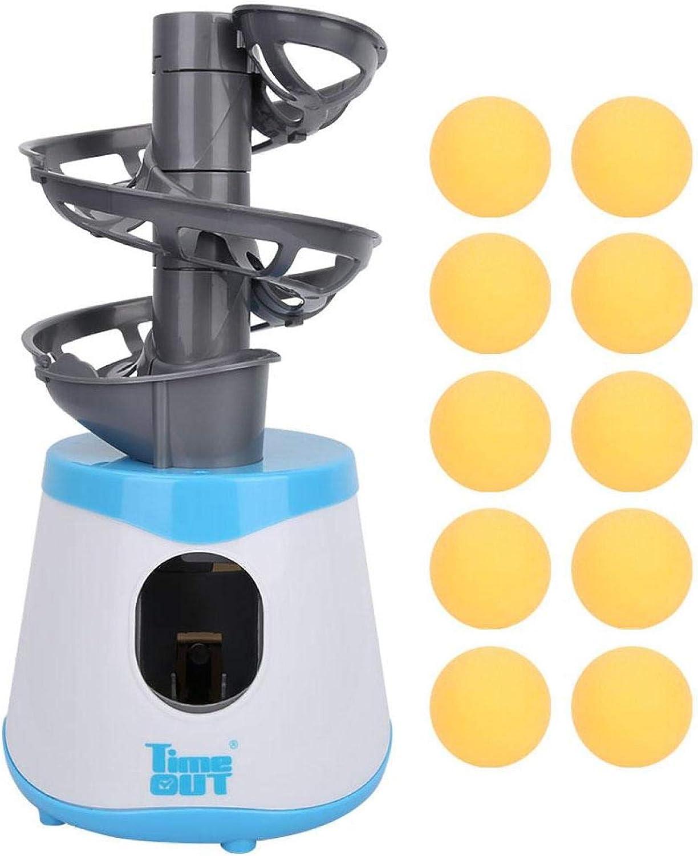 EVTSCAN Máquina de Ping Pong, Robot de Tenis de Mesa ABS portátil, Robot de Ping Pong automático, máquina de Entrenamiento, Entrenador de Tenis de Mesa con 10 Bolas