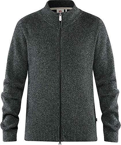 Fjallraven Herren Greenland Re-Wool Cardigan M Sweatshirt, Dark Grey, L