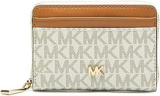 79dbb6a9a25 Michael Kors MICHAEL by Money Pieces porte-cartes pour femme, portefeuille  en cuir beige