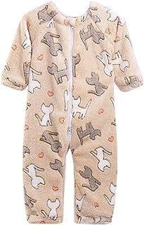 Bebé Mono de Invierno Traje de Nieve Mameluco Franela Peleles Pijama Recién Nacido Ropa de Dormir