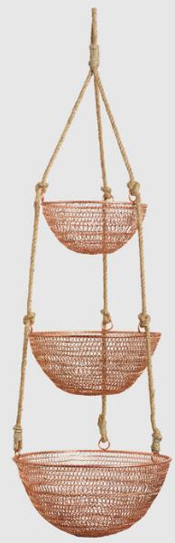 Copper and Rope 3-Tier Hanging Basket | World Market