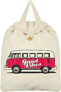 Good Vibes Festival Backpack Cream 35x41cm