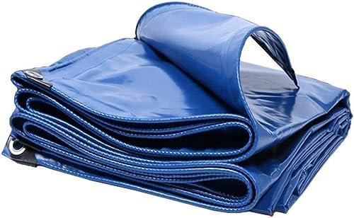 Gxmyb Bache Bache épaissie en PVC avec Oeillets, Feuille de bache de Prougeection Solaire imperméable, Toile de Prougeection Contre la Pluie résistant à l'usure - 350g   m2, Bleue (Taille   6mx6m)