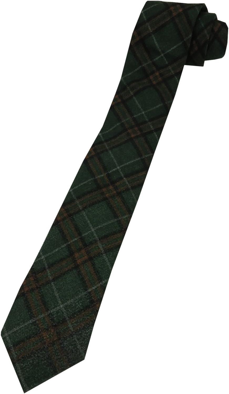Chaps Men's Tie, Carpenter Print, Green