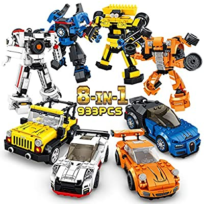 PANLOS STEM Robot Educational Learning Building Bricks Toy Model Cars Set Vehicles Gifts for Kids Boys and Girls Tight Fit and Compatible with All Major Brands
