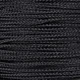 PARACORD PLANET Micro Cord 1.18mm Diameter 125 Feet Spool of Braided Cord - Available in a Variety of Colors Made in The USA (Black)
