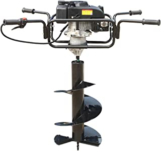 BAOSHISHAN Gas Earth Auger Two Man Post Hole Digger Industrial 1-2 Cycle 173CC 4 Stroke 7 Horsepower Diameter:20-40cm/7.8-15.7in 5.1KW 7500R/min (Earth Auger+ 2 Cycle Alloy Bit 30cm in Diam)
