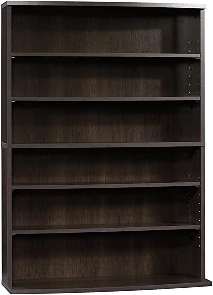 Sauder 413034 Beginnings Multimedia Storage Tower L 29 53 X W 9 49 X H 41 42 Cinnamon Cherry Finish