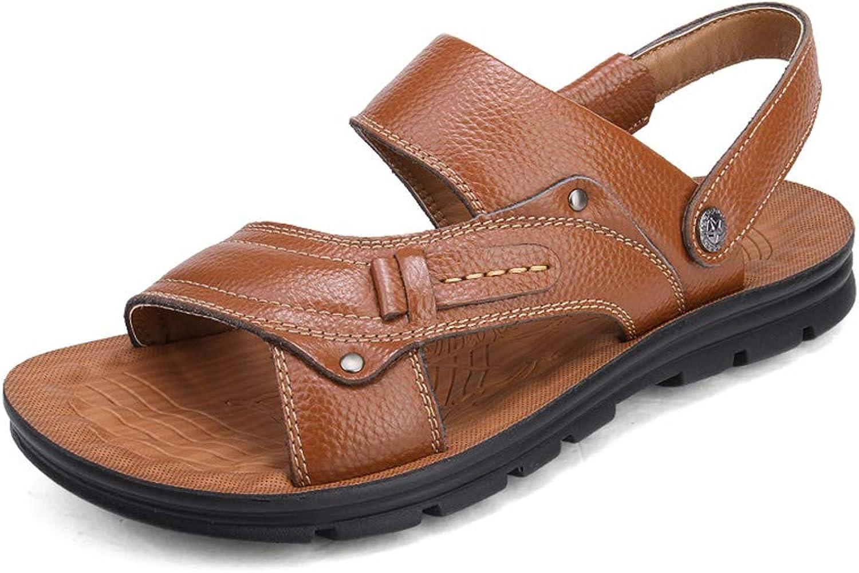 Herren PU Offener Zeh Sand ziehen Rutschfest Atmungsaktiv Desodorierung Zwei tragen Flip Flops Freizeit Geschft Sandalen