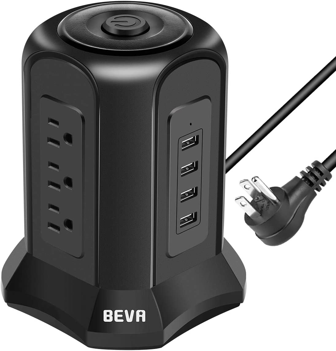 BEVA 2021 Power Strip Tower Limited time for free shipping Surge Chargin Plug Flat Protector Desktop